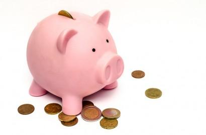 tirelire cochon pièces de monnaie