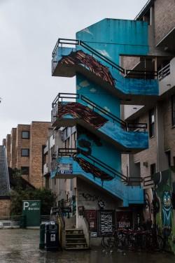 Louvain-la-Neuve Escalier Bleu