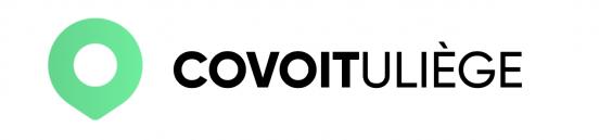 """Il s'agit du logo de """"CovoitULiège"""". Ce logo a une forme de rond qui se termine par une petite pointe vers le bas, et percé d'un rond blanc."""
