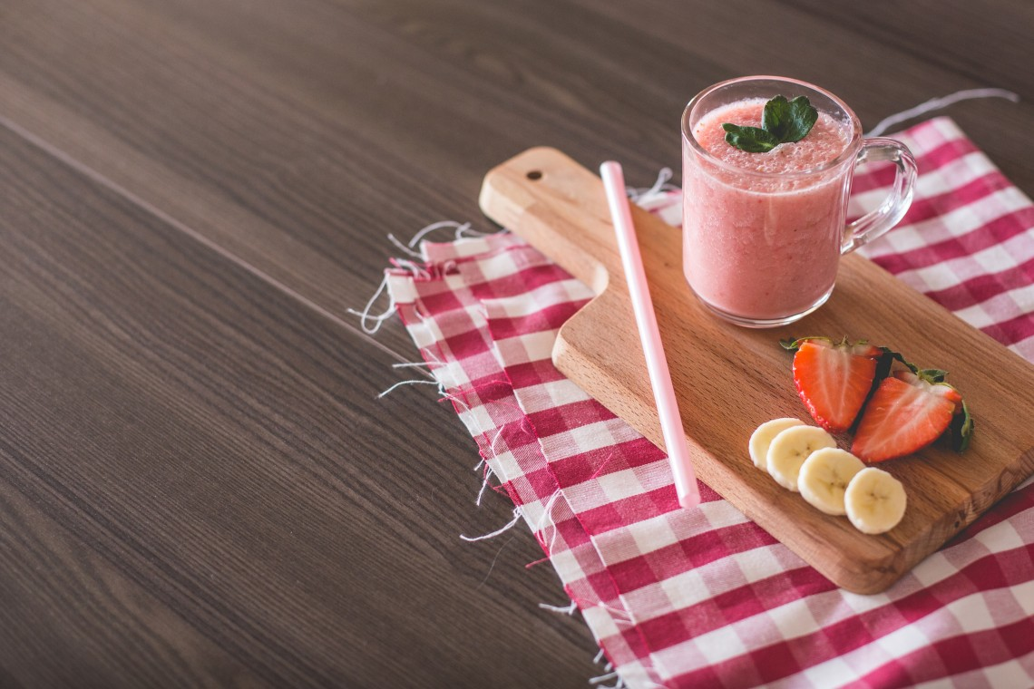 Smoothie fraise banane