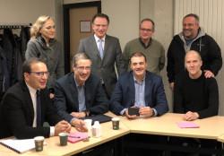 Pierre Wolper et son équipe : Anne-Sophie Nyssen, Philippe Hubert, Eric Haubruge (out), Vincent D'orio, Jean Winand, Rudi Cloots et Fabrice Bureau