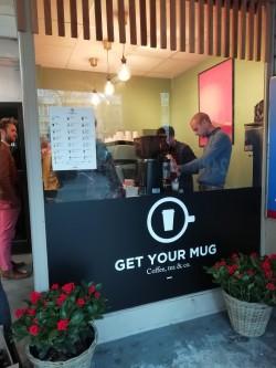 Facade du pop up du café Get your mug