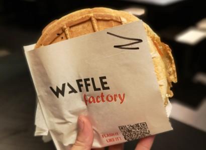 Lunchwaf, gaufre salée norvégienne au Waffle Factory