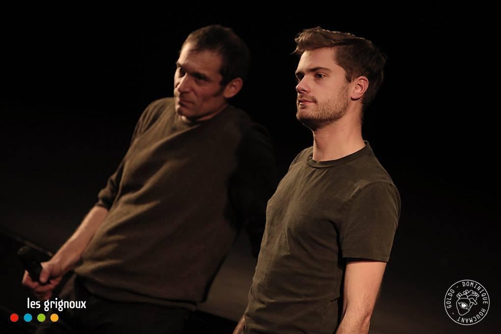 Photo du réalisateur Lukas Dhont et de l'acteur Arieh Worthalter (père de Lara)