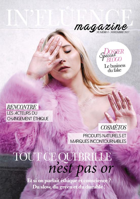 couverture d'un des numéros papiers d'In'fluence magazine