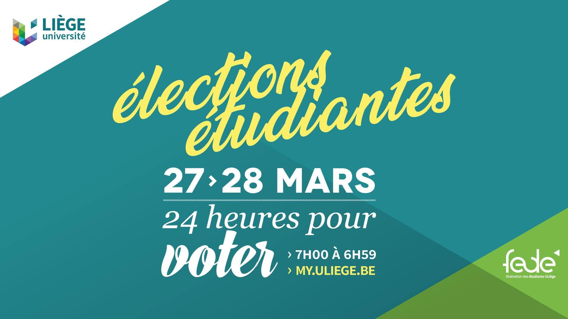 Affiche vote élections étudiantes 2019
