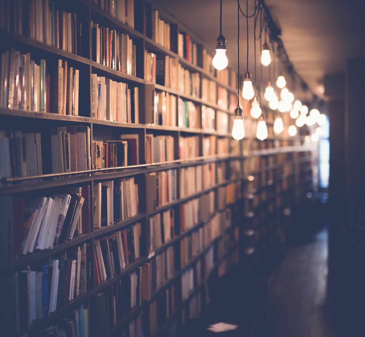 Image représentant une étagère de bibliotheque