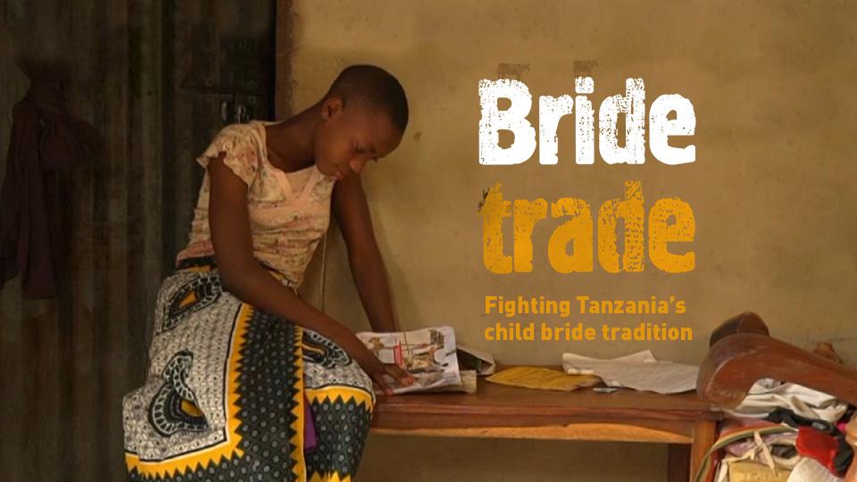 """Affiche du documentaire """"Bride Trade. Fighting Tanzania's child bride tradition"""""""