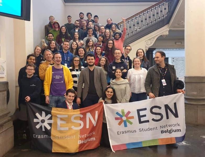 Groupe d'érasmus et l'équipe du ESN ULiège
